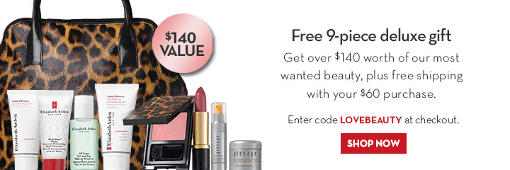 Free 9-piece deluxe gift. Get over $140 worth of our most wanted beauty, plus free shipping with your $60 purchase. Enter code LOVEBEAUTY at checkout. SHOP NOW.