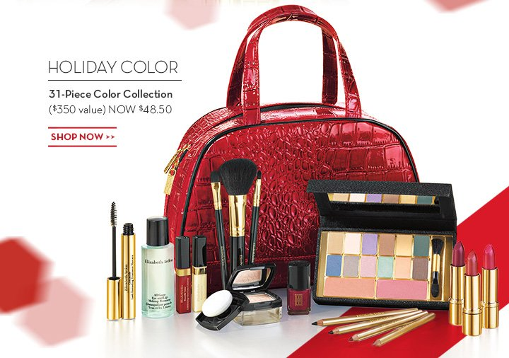 HOLIDAY COLOR. 31-Piece Color Collection ($350 value) NOW $48.50. SHOP NOW.