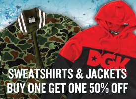 Sweatshirts & Jackets Buy One Get One 50% Off!