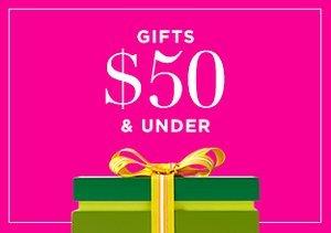 Gifts $50 & Under