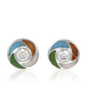Sterling Silver Earrings 3.35 CTW Cubic Zirconia