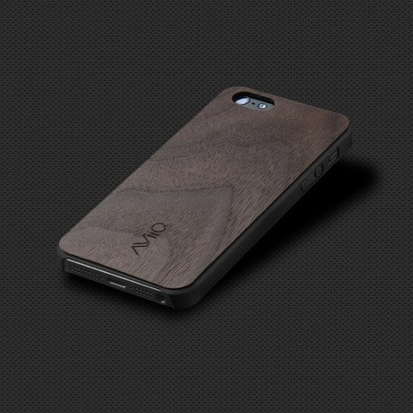 AViiQ iPhone 5S Thin Case // Black Walnut