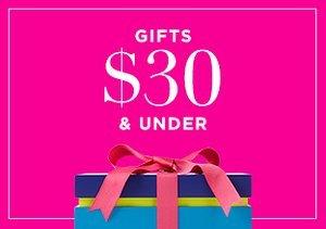 Gifts $30 & Under