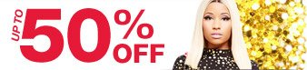 Up to 50% off assorted items from the Nicki Minaj Collection