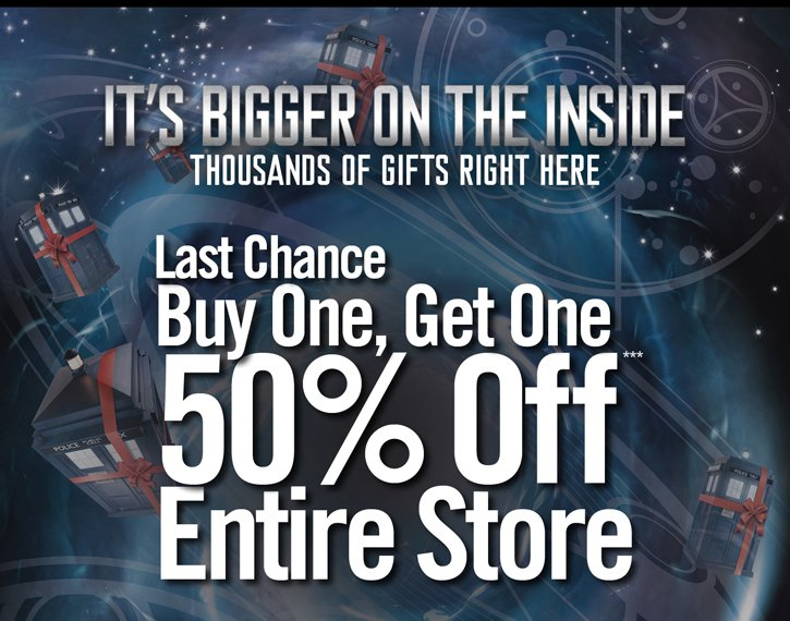 LAST CHANCE BOGO 50% OFF*** ENTIRE STORE