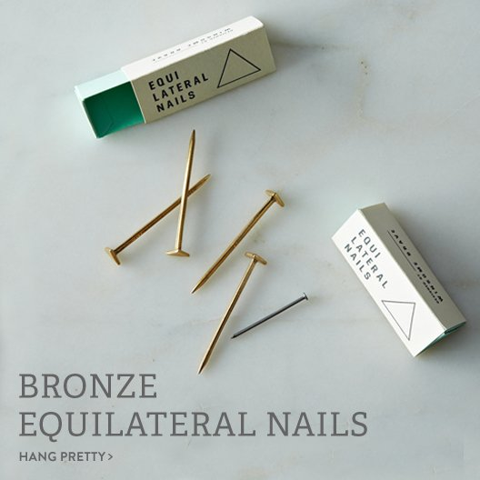 Bronze Equilateral Nails