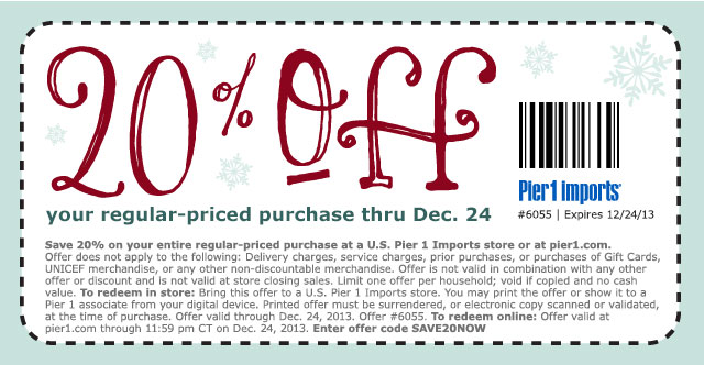 20% off your regular-priced purchase