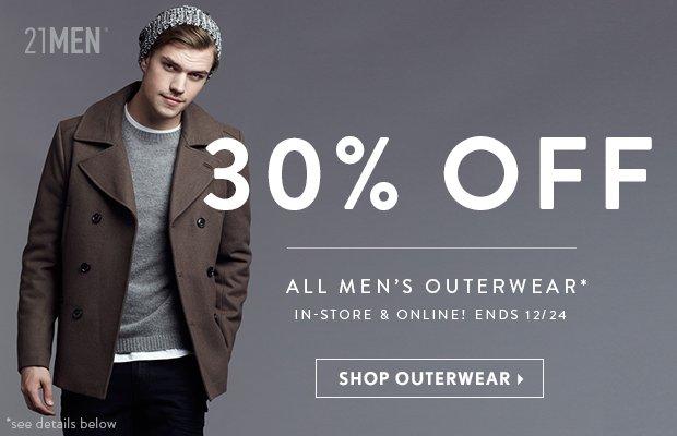 21MEN 30% Off Outerwear