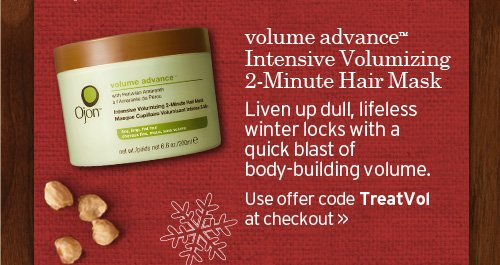 volume advance Intensive Volumizing 2 Min Hair Mask Liven up dull  lifeless winter locks with a quick blast of body building volume Use  offer code TreatVol at checkout