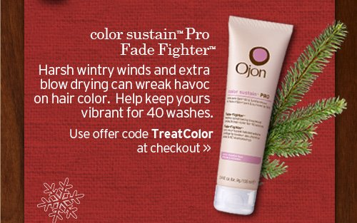 color  sustain Pro Fade Fighter Harsh wintry winds and extra blow drying can  wreak havoc on hair color Help keep yours vibrant for 40 washes Use  offer code TreatColor at checkout