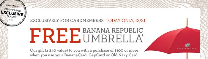 FREE BANANA REPUBLIC UMBRELLA*