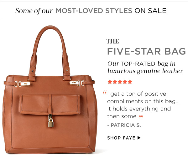 The Five-Star Bag. Shop Faye