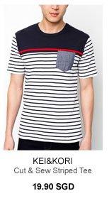 Kei&Kori Cut & Sew Striped Tee
