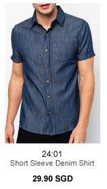 24:01 Short Sleeve Denim Shirt