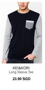 Kei&Kori Long sleeve tee with elbow patches