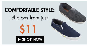 Canvas Slip Ons from just $11!