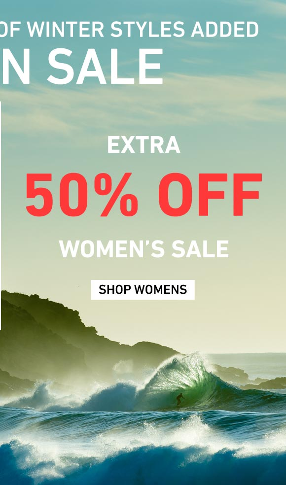 New Winter Styles Added: Extra 50% Off Women's Sale on Sale