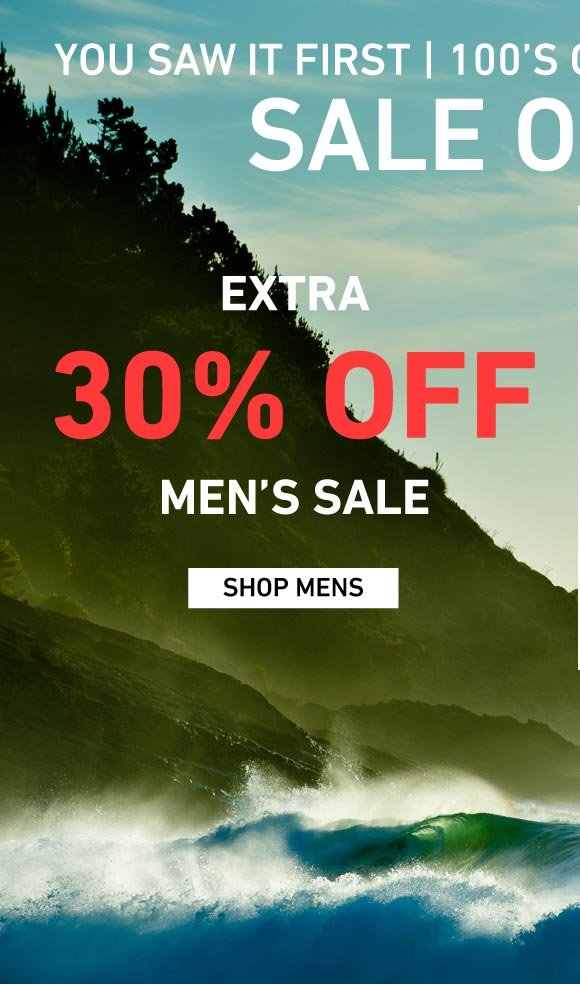 New Winter Goods Added: Extra 30% Off Men's Sale on Sale
