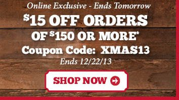 $15 Off Orders Of $150 Or More
