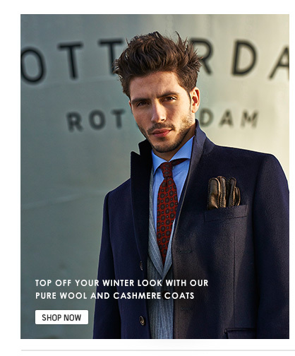 Pure wool and cashmere coats