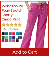 WonderWink Four-Stretch Sporty Cargo Pant - Add to Cart