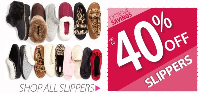 Up to 40% off Slippers