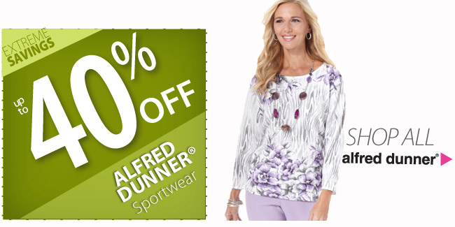 Up to 40% off Alfred Dunner