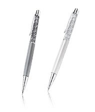 Crystalline Lady Ballpoint Pen, White Pearl & Mechanical Pencil Set