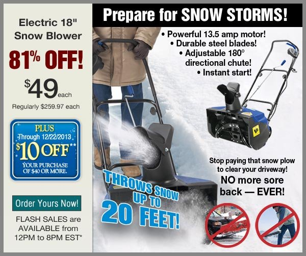 81% OFF Snow Blower