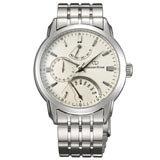 Orient DE00002W Men's Retrograde Automatic White Dial Stainless Steel Power Reserve Watch