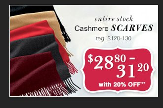 $28.80-31.20 USD - Cashmere Scarves
