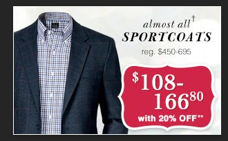 $108-166.80 USD - Sportcoats