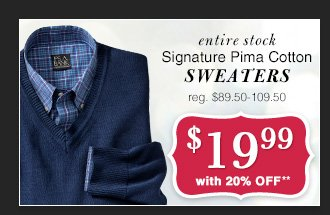 $19.99 USD - Signature Pima Cotton Sweaters