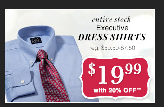 $19.99 USD - Executive Dress Shirts & Sportshirts