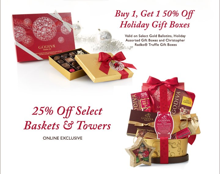 Buy 1, Get 1 50% Off Holiday Gift Boxes