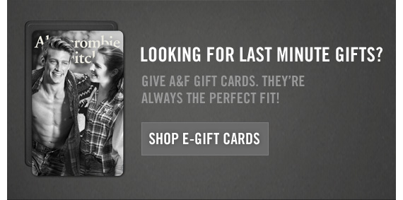 LOOKING FOR LAST MINUTE GIFTS? SHOP GIFT CARDS