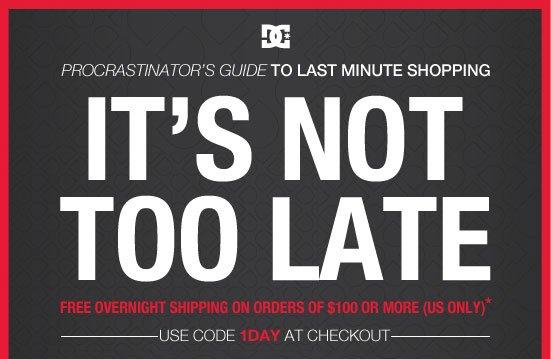 Procrastinator's guide to last minute shopping