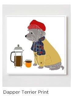 Dapper Terrier Print