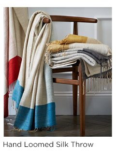 Hand Loomed Silk Throw