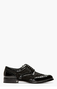 DOLCE & GABBANA Black Lace Wingtip brogues for women