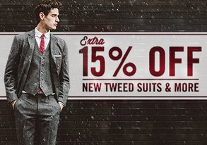 Shop Extra 15% Off New Tweed Suits & More