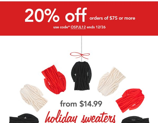 Shop Sweaters!