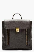 3.1 PHILLIP LIM Black pebbled leather Pashli Backpack for women