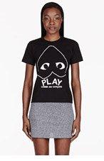COMME DES GARÇONS PLAY Black & White Heart Emblem T-shirt for women