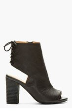 JEFFREY CAMPBELL Black Cut-Out Quincy Ankle Boot for women