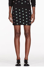 OPENING CEREMONY Black Embellished Sparrow Mini Skirt for women