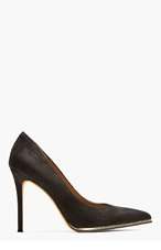 GIVENCHY BLACK nubuck CLASSIC PUMPs for women