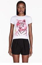 STELLA MCCARTNEY White Embellished Tiger T-Shirt for women