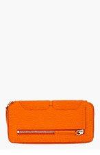 3.1 PHILLIP LIM Orange Textured Leather Pashli Wallet for women