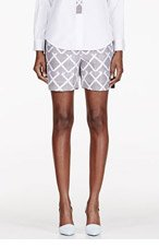 MAIYET White silk printed Pleated Waist Shorts for women